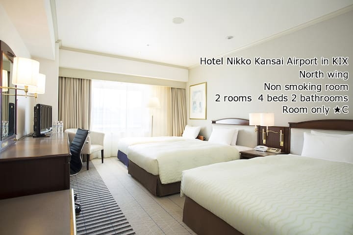 Hotel Nikko Kansai Airport (4Bed,2Bath,2Rm) in KIX