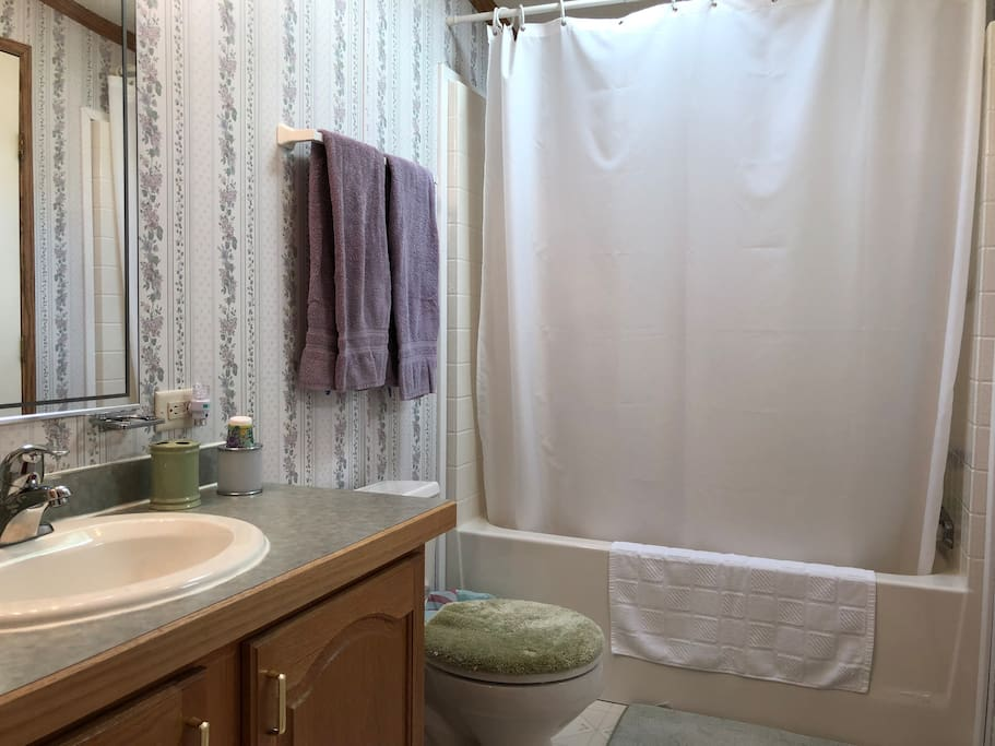 Private full bathroom that adjoins your guest room