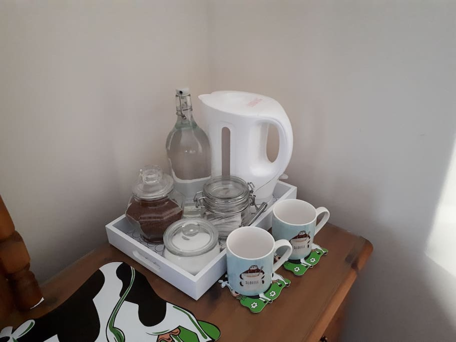 complimentary tea / coffee tray in your room