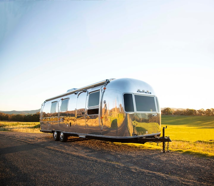 31 ft Airstream for lovers of all things vintage