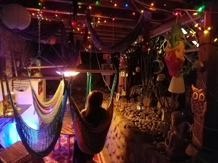 Unique Zen Den and Outdoor Weed / Hammock Lounge.