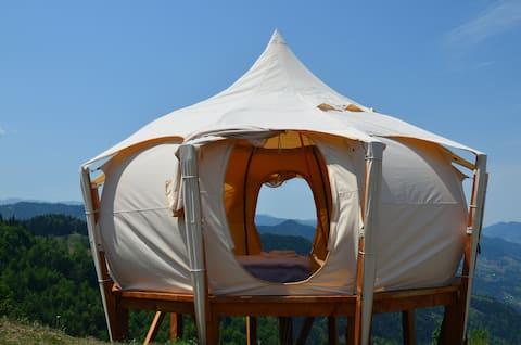 Lotus belle tent-Mountain View@Glamping Tago