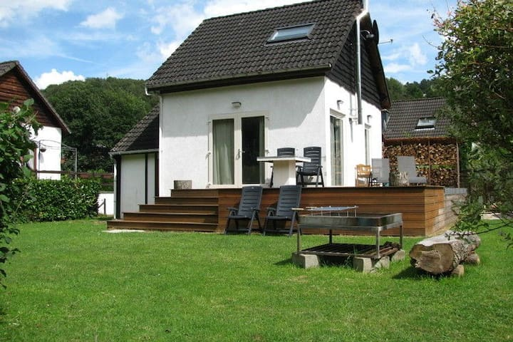 Cosy house with modern interior, with garden, terrace and beautiful view of the Amblève