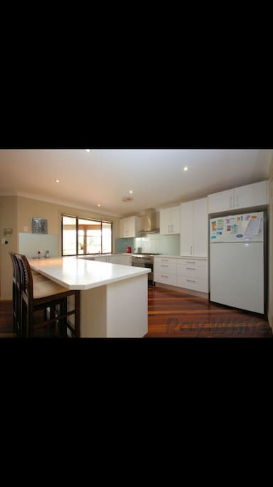 The large gourmet kitchen- you are supplied with fresh eggs and herbs from our garden