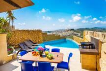 Pool terrace facing spectacular views