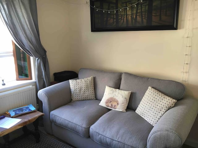 New sofabed - in first floor room with double bed - Extra Duvet, sheets,  towels and pillows available on request for additional guests