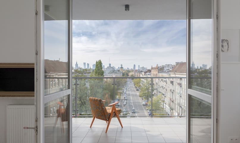 Warsaw Sunset Loft with Terrace