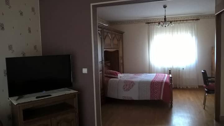 Chambre double avec salon