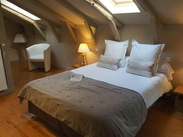 Chambre Puy Mary- Maison d'hôtes de Massigoux