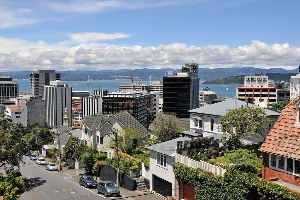 View from top floor master bedroom