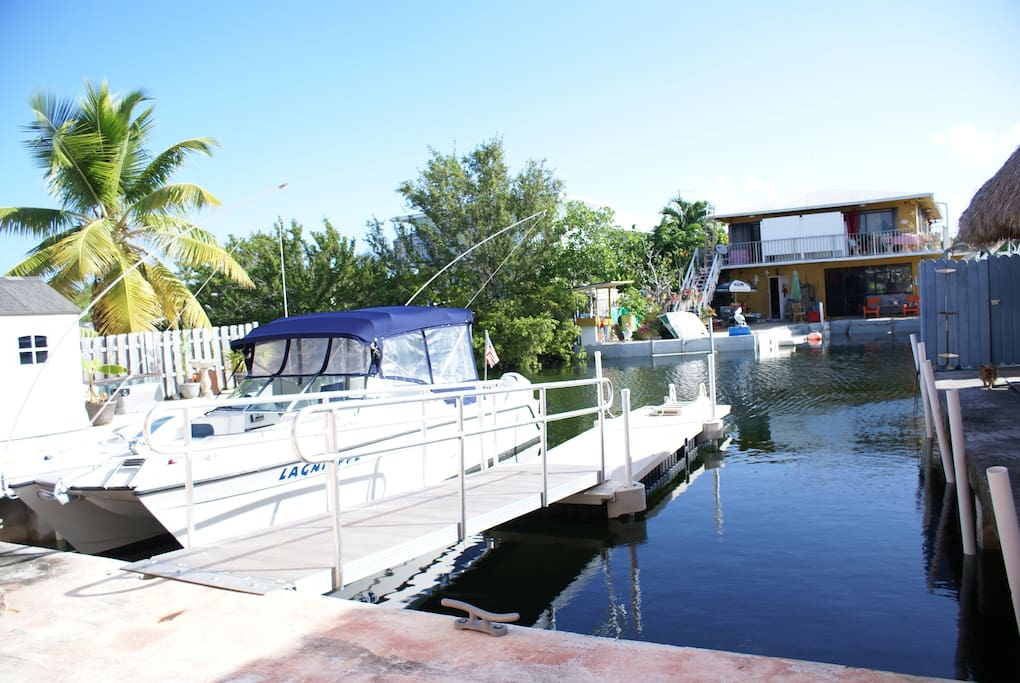 For a reasonable fee our guests can use the floating dock to launch their kayaks and paddleboards!