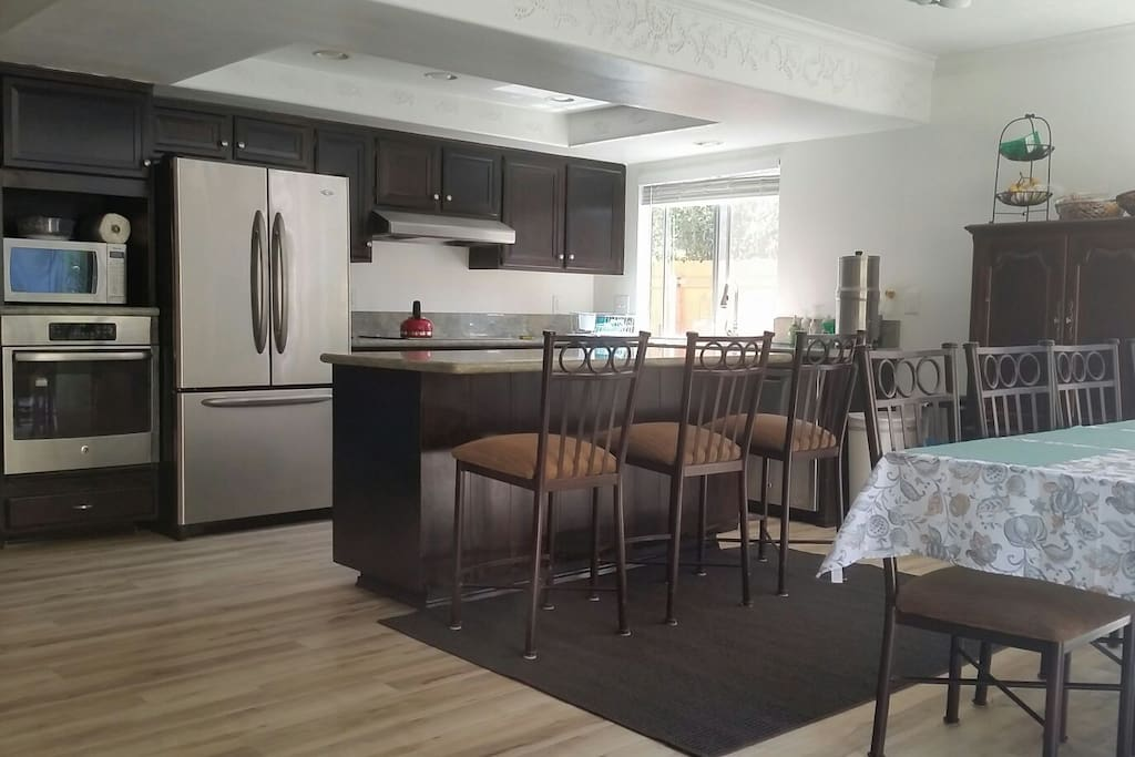Newly remodeled kitchen with upgraded appliances.