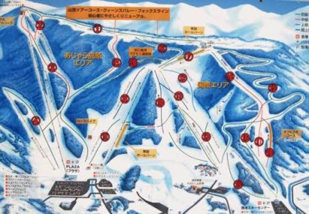 大鰐スキー場のコース