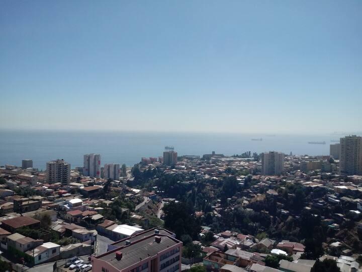 Vista Panorámica a Viña del Mar y Bahía Valparaíso