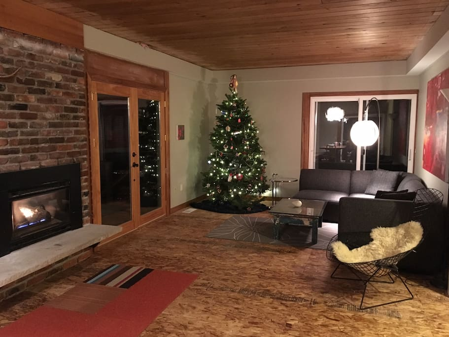 The propane fireplace makes the space feel really cozy!