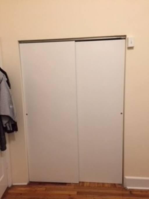 Big closet in bedroom
