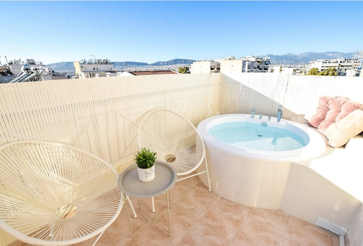 Acropolis View Luxury Penthouse With Hot Tub