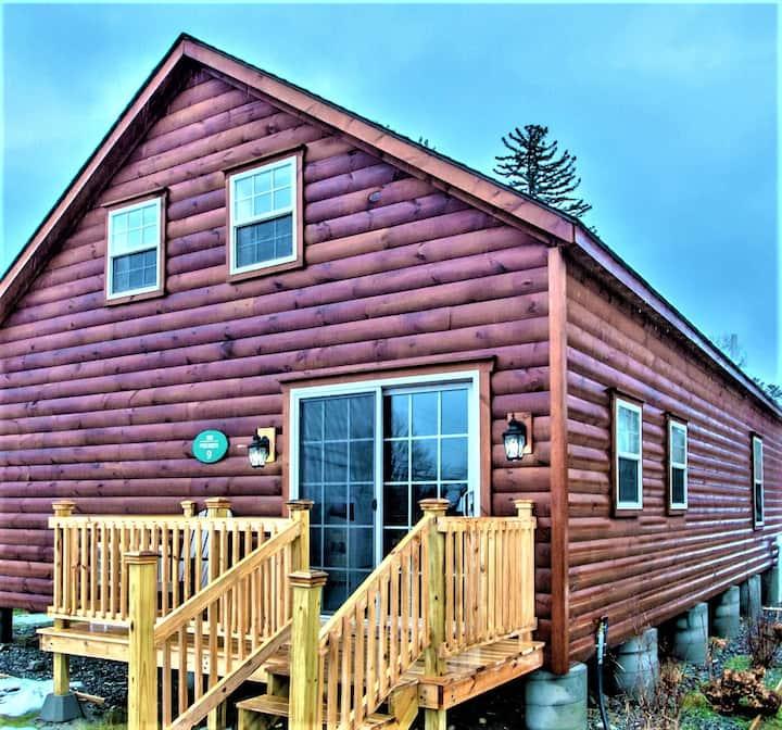 Brand new large rustic log cabin 9
