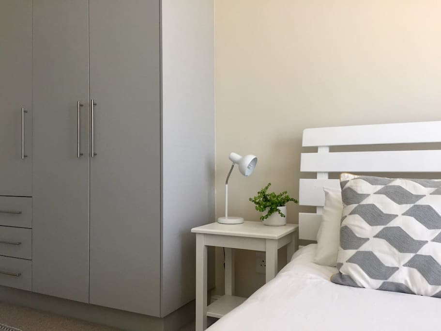 Main Bedroom with Queen size bed and cupboard space