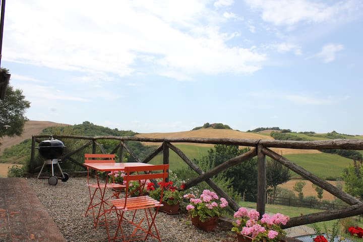 Lovely apartment with panoramic terrace - Asciano - Apartment