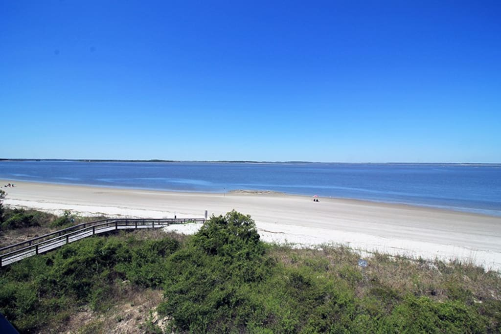 Spectacular Panoramic Vistas of the Atlantic Ocean and Savannah River Entrance  from your Private Balcony
