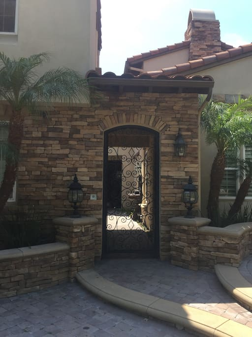 Front gate to enter courtyard and up to private casita. Executive neighborhood, quiet and peaceful.