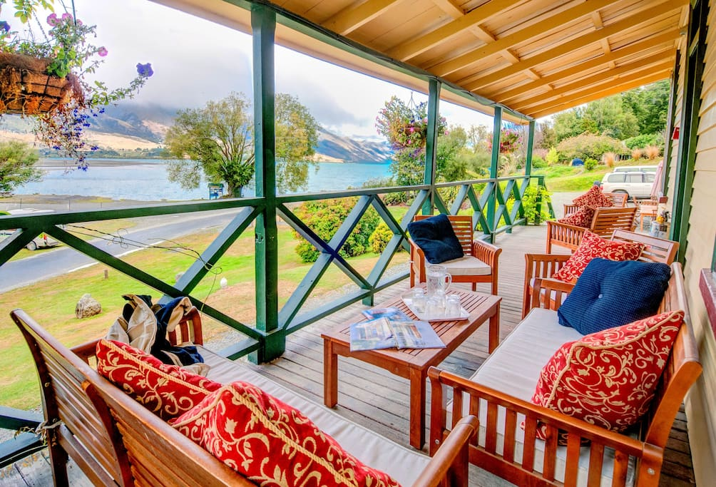 Private terrace for heritage lodge guests
