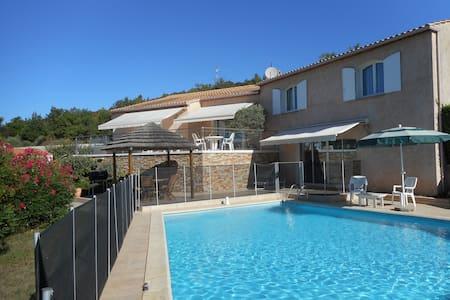 Belle villa pour 10 p avec piscine 12x8 sécurisée - Vinon-sur-Verdon