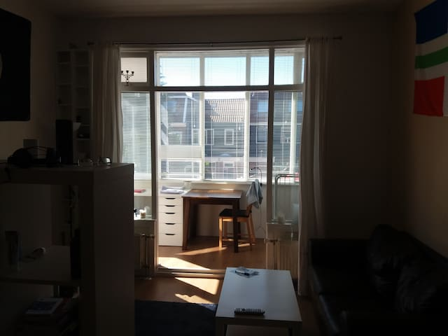 Sunny, spacious room 10 minutes from city centre!