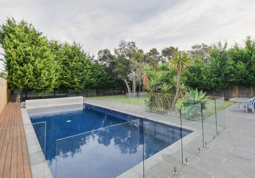 Fenced Pool with private backyard