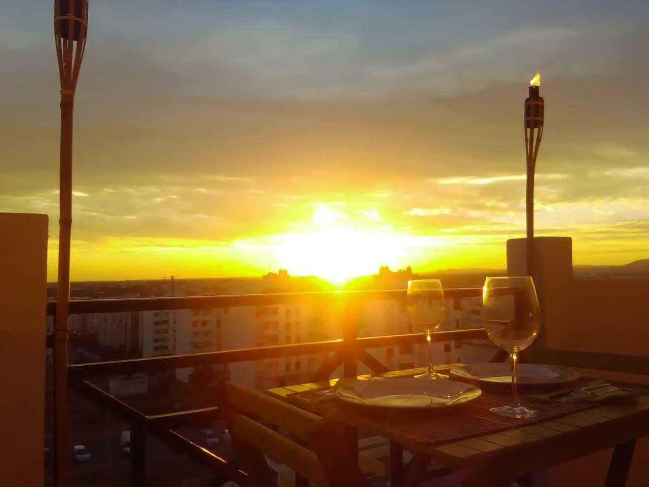 Romantic Dinner at the Sunset.