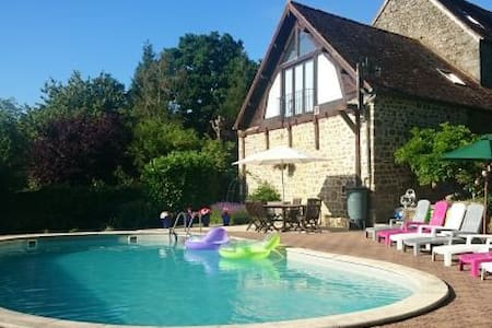 Farmhouse & Gables with heated swimming pool - Saint-Sauveur-de-Carrouges - Rumah