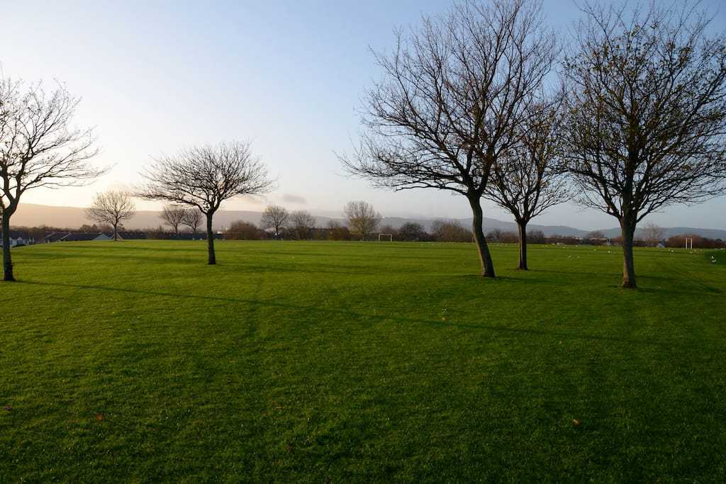 Our Local Park (right at our doorstep) View of City & Dublin/Wicklow Mountains