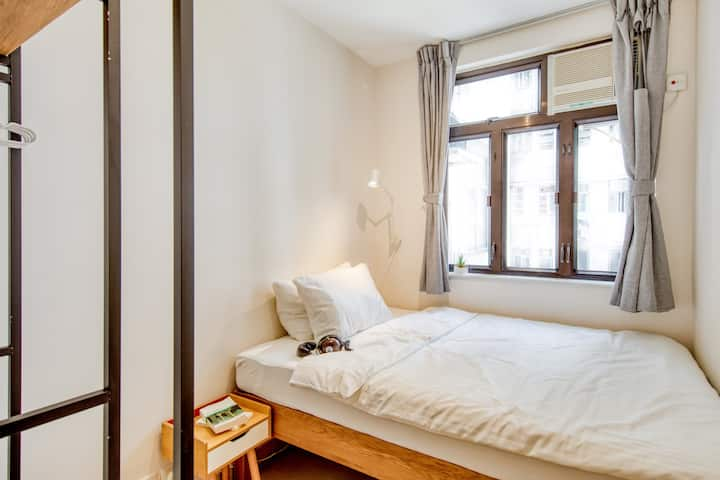 Cozy Co-living Double Room 1 Min from Tin Hau MTR