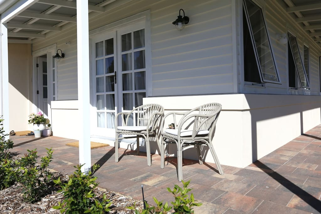 Enjoy the morning sunshine on the front porch