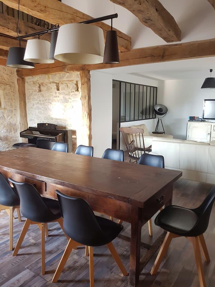 Entre Albi et Castres : Chambre et séjour privés
