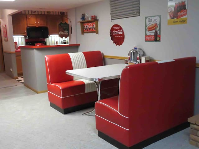 Coca Cola Themed Lower Level Suite
