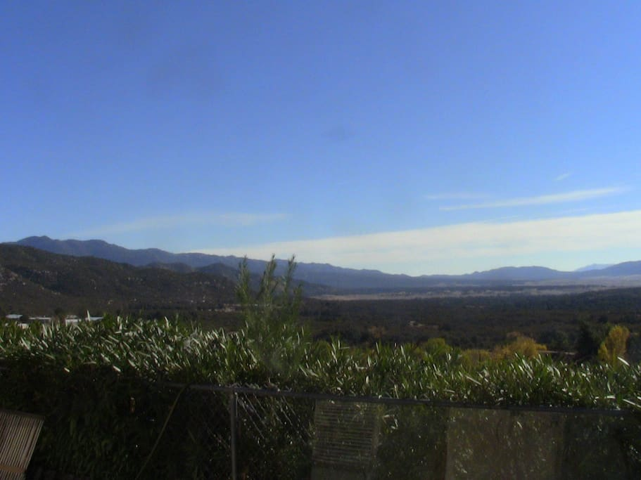 View to south, almost to the Mts of Mexico