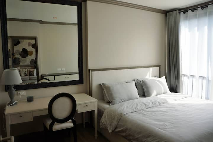 44 Sq.m Lux 1 Br, walk to MBK BTS Siam Paragon: C
