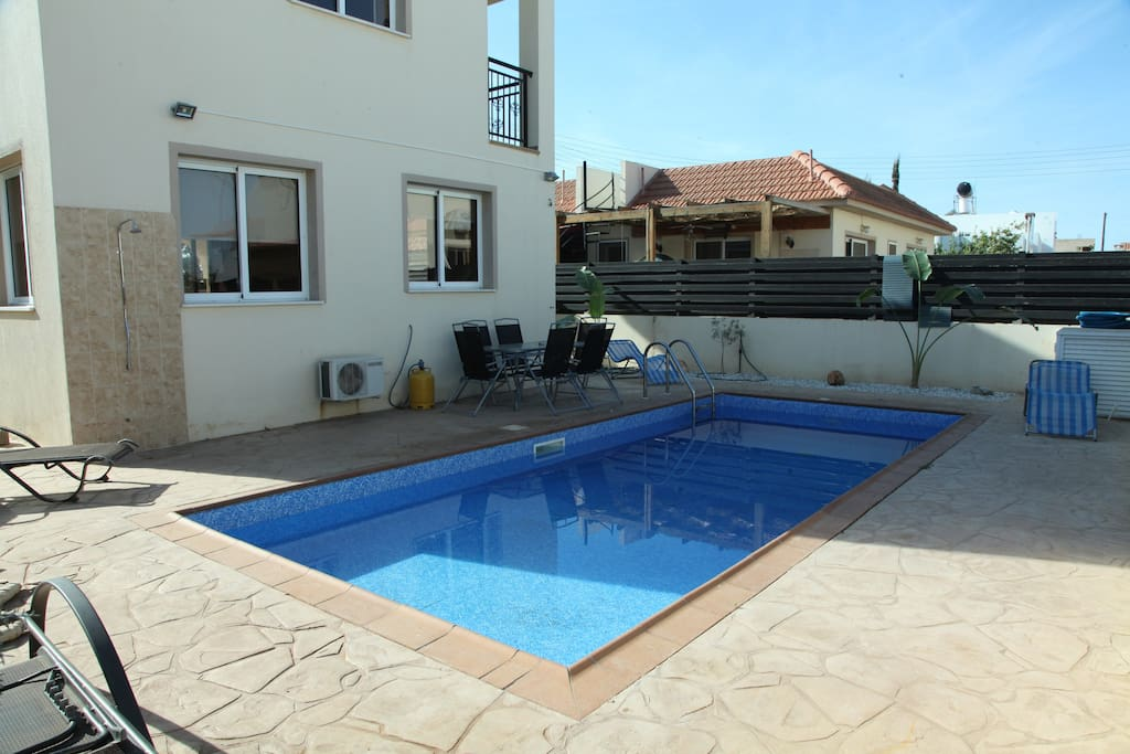 Private pool to keep cool in the summer