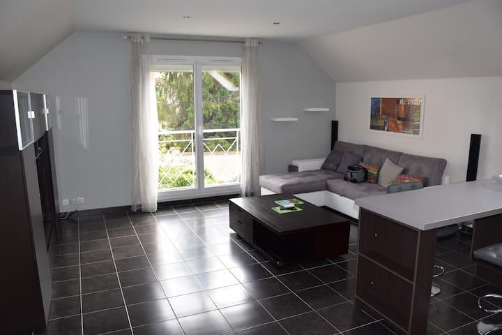 Appart 62 m² dans pavillon +parking fermé+terrasse - Chennevières-sur-Marne