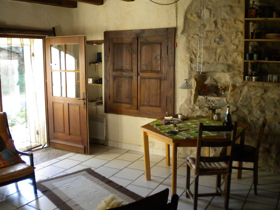 Le séjour - Eingang und Essbereich