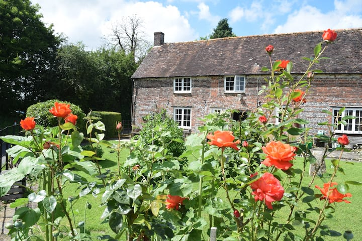 Gorgeous flint and brick cottage in rural Dorset