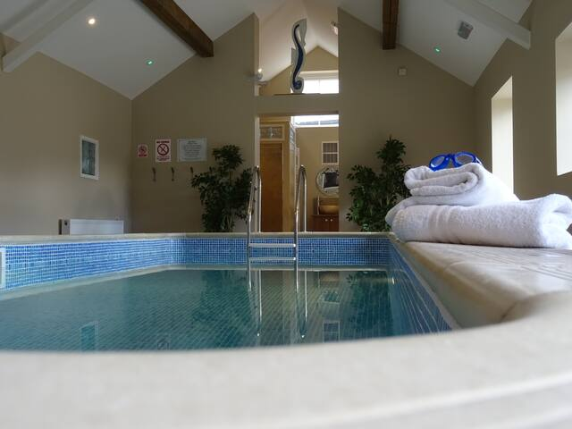 Our wonderful indoor heated pool, booked exclusively for your own use.