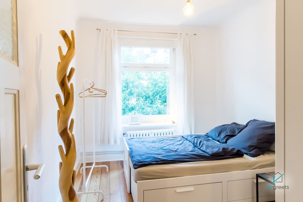 The bedroom offers you also enough storage for your belongings.