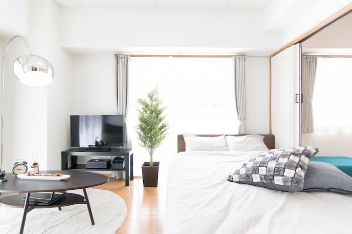 Near Ueno, Asaksa Max8!Clean&modern +pWifi,TV#4M8 - Taitō-ku - Apartamento