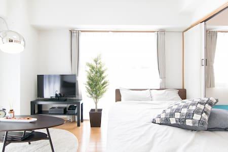 Near Ueno, Asaksa Max8!Clean&modern +pWifi,TV#4M8 - Taitō-ku - Apartemen