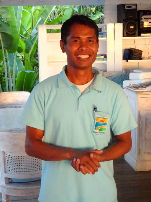 Pasek, our friendly resort manager