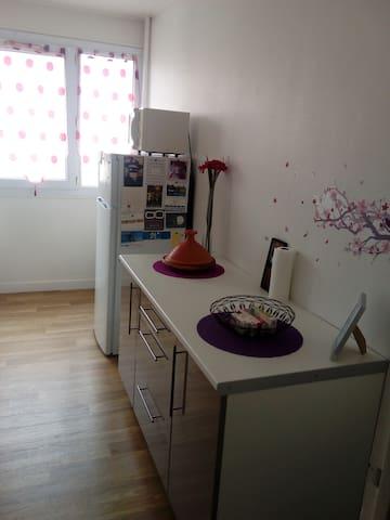 Beau F2 calme et bien situé - Cherbourg-Octeville - Apartament