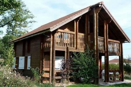 Maison bois, piscine, étang *1* - Meilhac